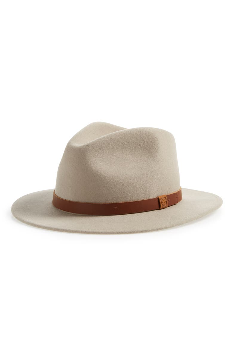 BRIXTON Messer II Felted Wool Fedora, Main, color, 020