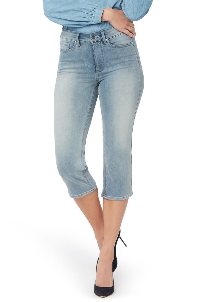 NYDJ ThighShaper Straight Crop Jeans, Main, color, CLEAN AFFECTION