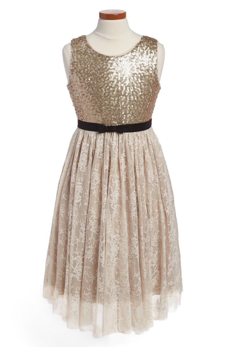 BLUSH BY US ANGELS Us Angels Sequin Dress, Main, color, 710