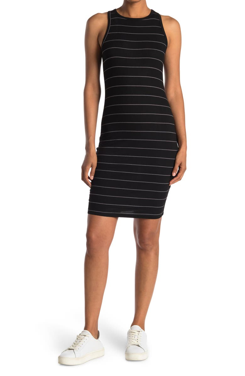 LAUNDRY BY SHELLI SEGAL High Neck Racerback Midi Dress - Pack of 2, Main, color, BLACK/ HEATHER GREY