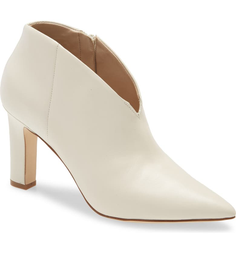 COLE HAAN Viana Pointed Toe Bootie, Main, color, IVORY PRINCESS LEATHER