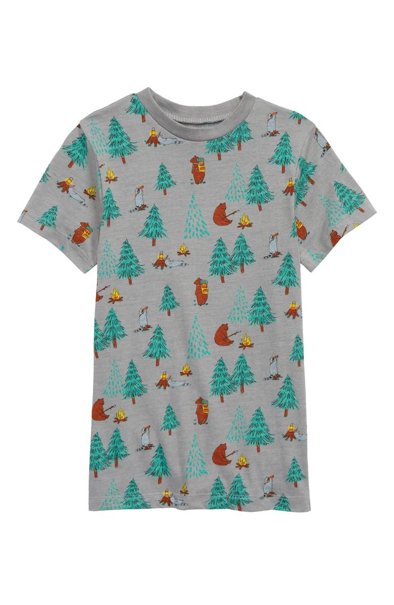 TUCKER + TATE Allover Print Graphic Tee, Main, color, GREY CAMPING