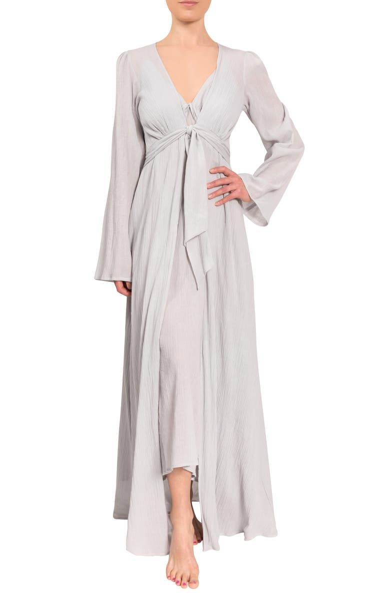 EVERYDAY RITUAL Diane Cotton Duster Robe, Main, color, MIST