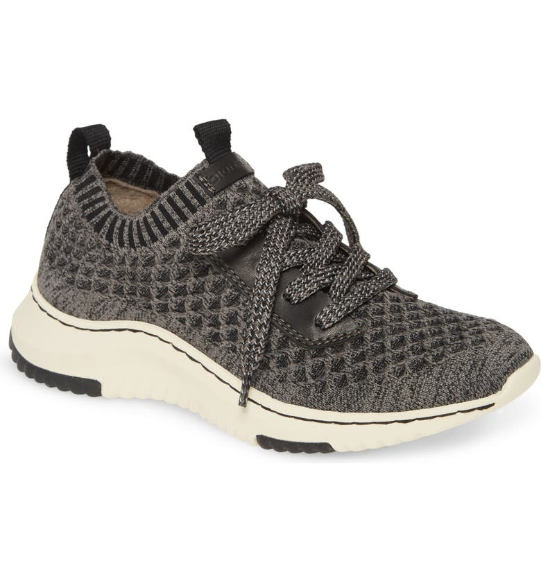 BIONICA Onie Recycled Sneaker, Main, color, BLACK/ GREY FABRIC