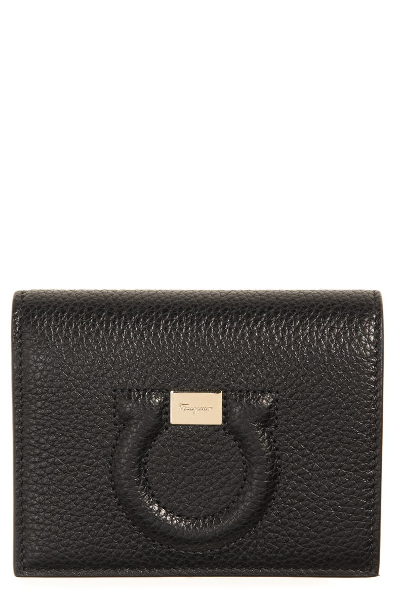 SALVATORE FERRAGAMO Continental City Wallet, Main, color, Black