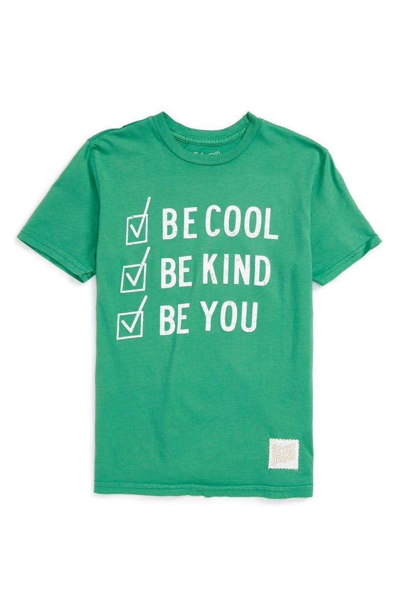 RETRO BRAND 'Be Cool Be Kind Be You' Graphic T-Shirt, Main, color, SPRITE