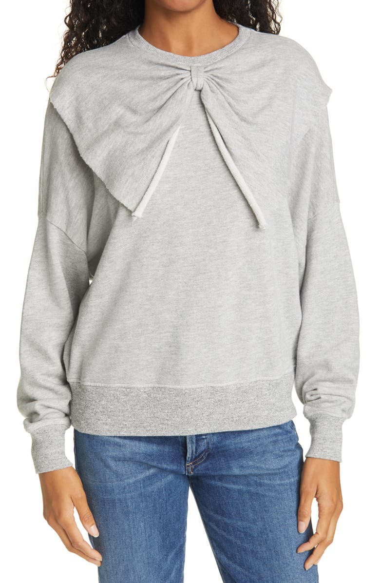 THE GREAT. The Bow Sweatshirt, Main, color, 050