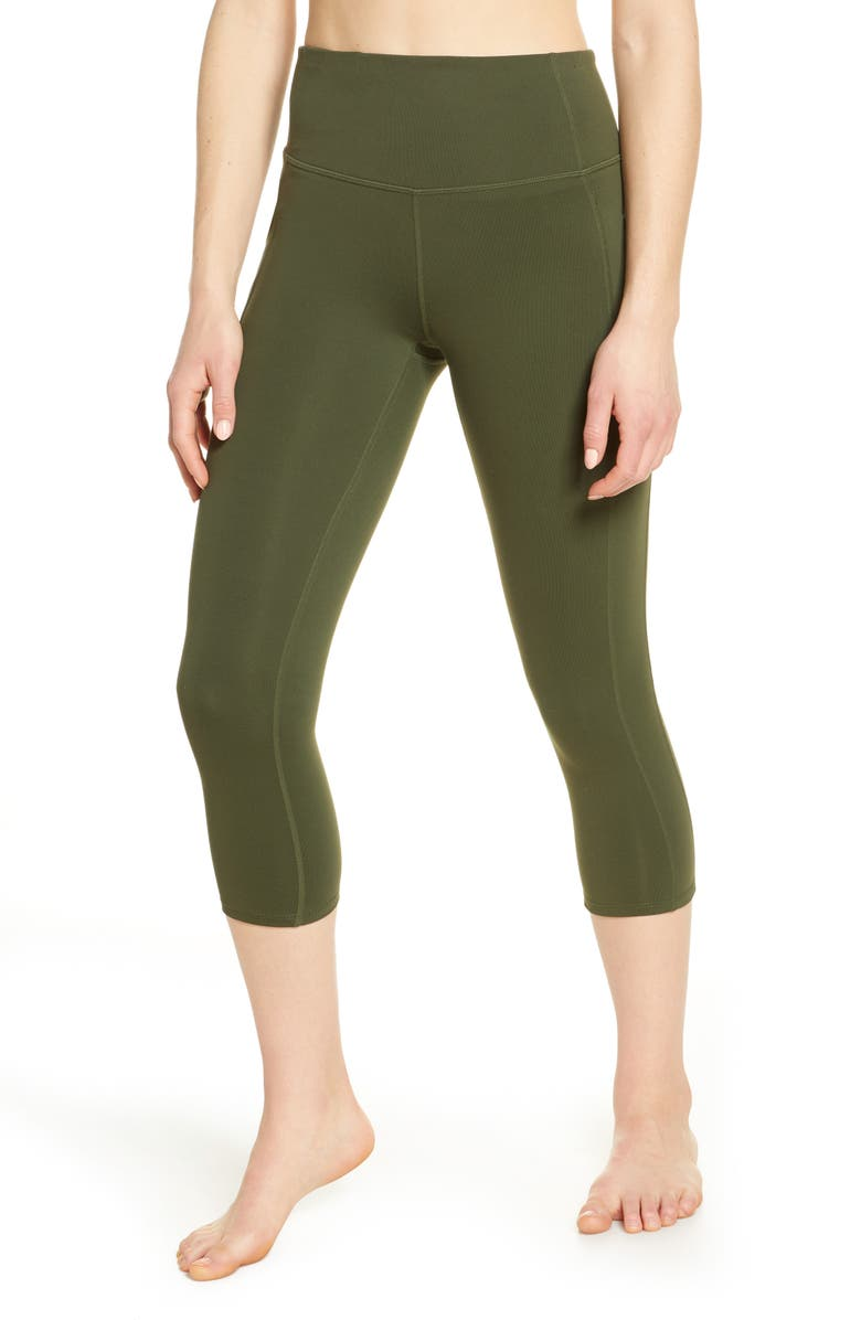 ZELLA Live In High Waist Pocket 7/8 Leggings, Main, color, 301