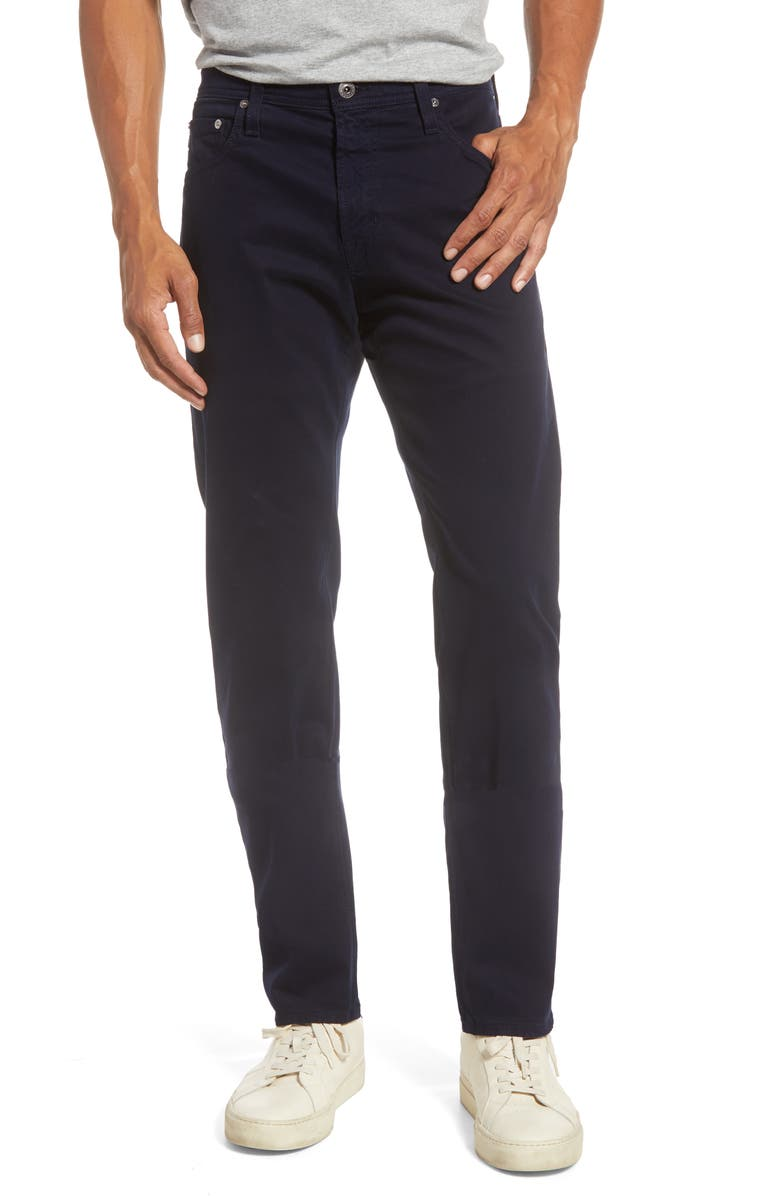 AG Tellis SUD Modern Slim Fit Stretch Twill Pants, Main, color, RICH NAVY