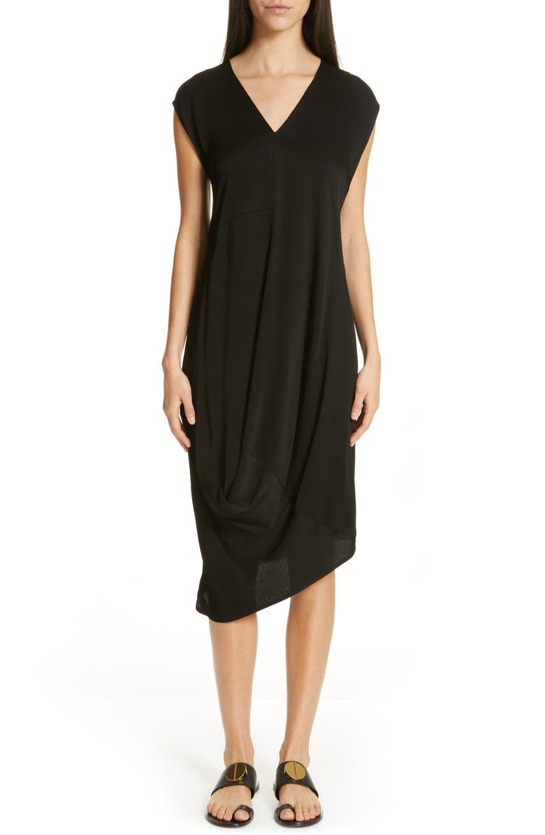 ZERO + MARIA CORNEJO Loop Drape Dress, Main, color, 001