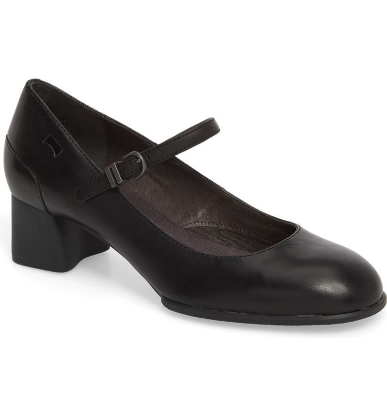 CAMPER Katie Mary Jane Pump, Main, color, BLACK LEATHER