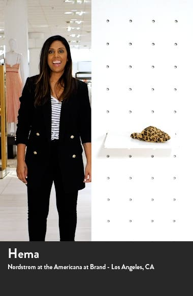Leopard Recycled Faux Fur Quilted Scuff Slippers, sales video thumbnail
