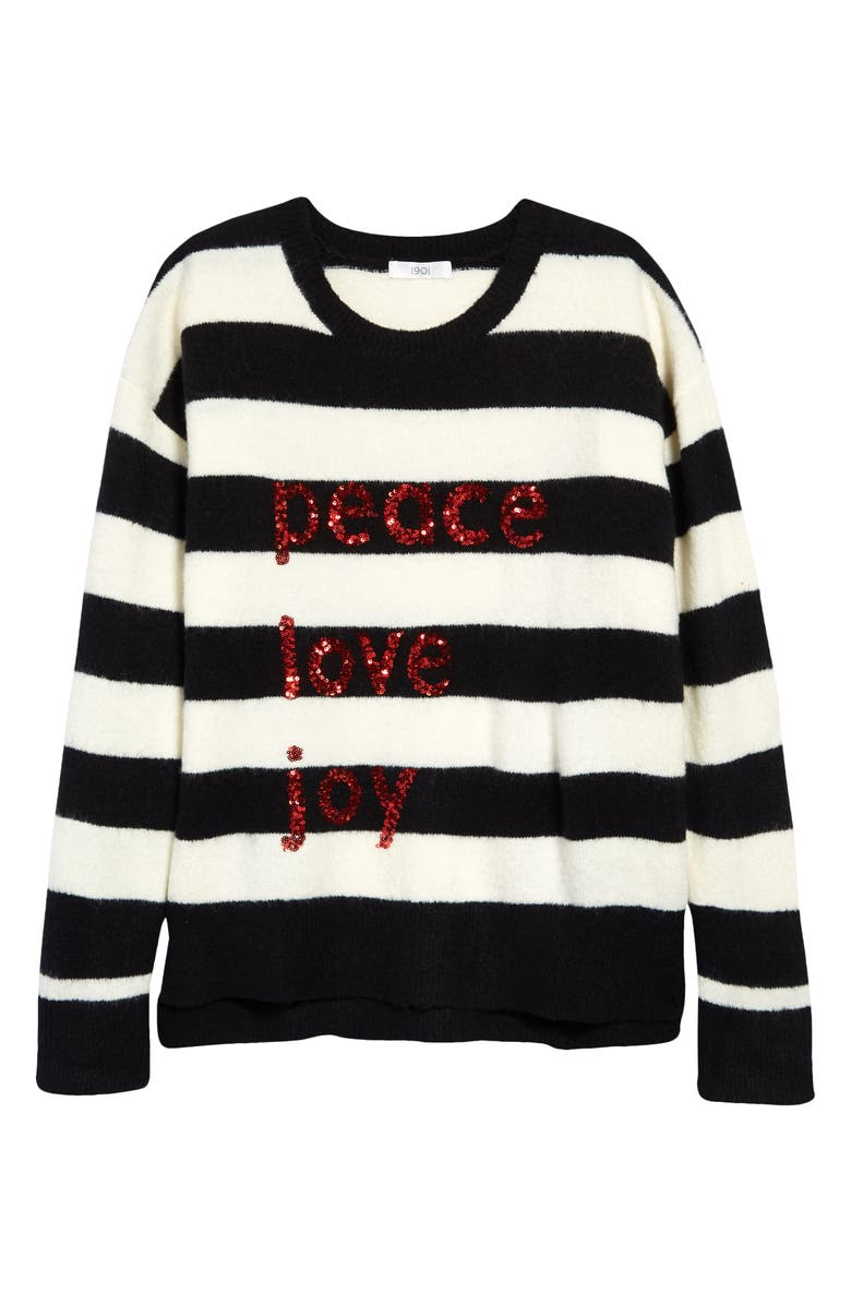 NORDSTROM 1901 Kids' Merry Sparkle Sweater, Main, color, 001