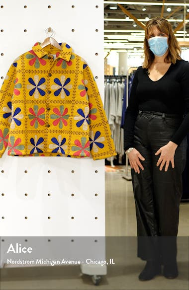Bengali Tableau Quilted Workwear Jacket, sales video thumbnail