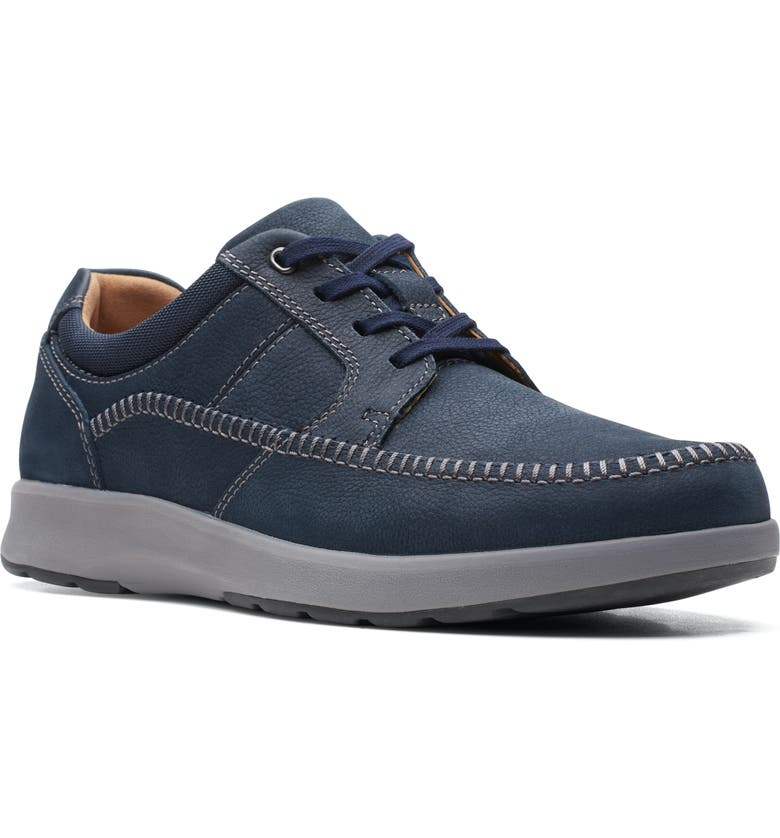 CLARKS<SUP>®</SUP> Unstructured Trail Sneaker, Main, color, NAVY NUBUCK