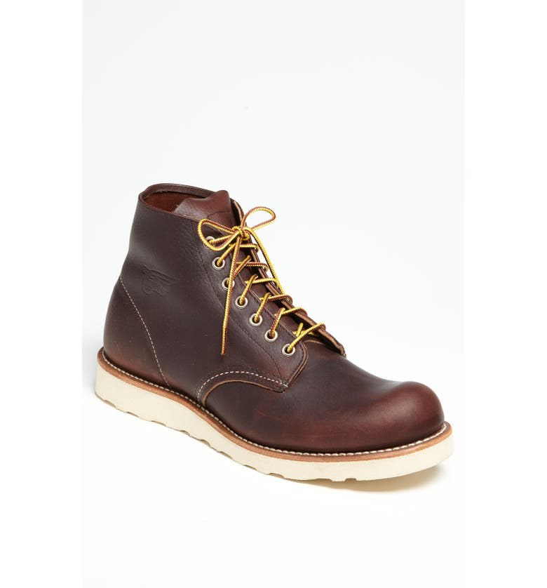 RED WING '8196' Round Toe Boot, Main, color, BRIAR OIL SLICK- 8196