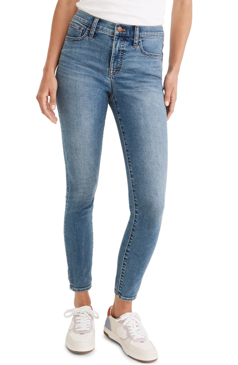 MADEWELL 9-Inch Mid-Rise Roadtripper Authentic Jeans, Main, color, ENFIELD