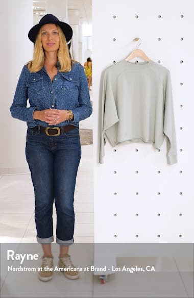 Faye Rolled Hem Sweatshirt, sales video thumbnail