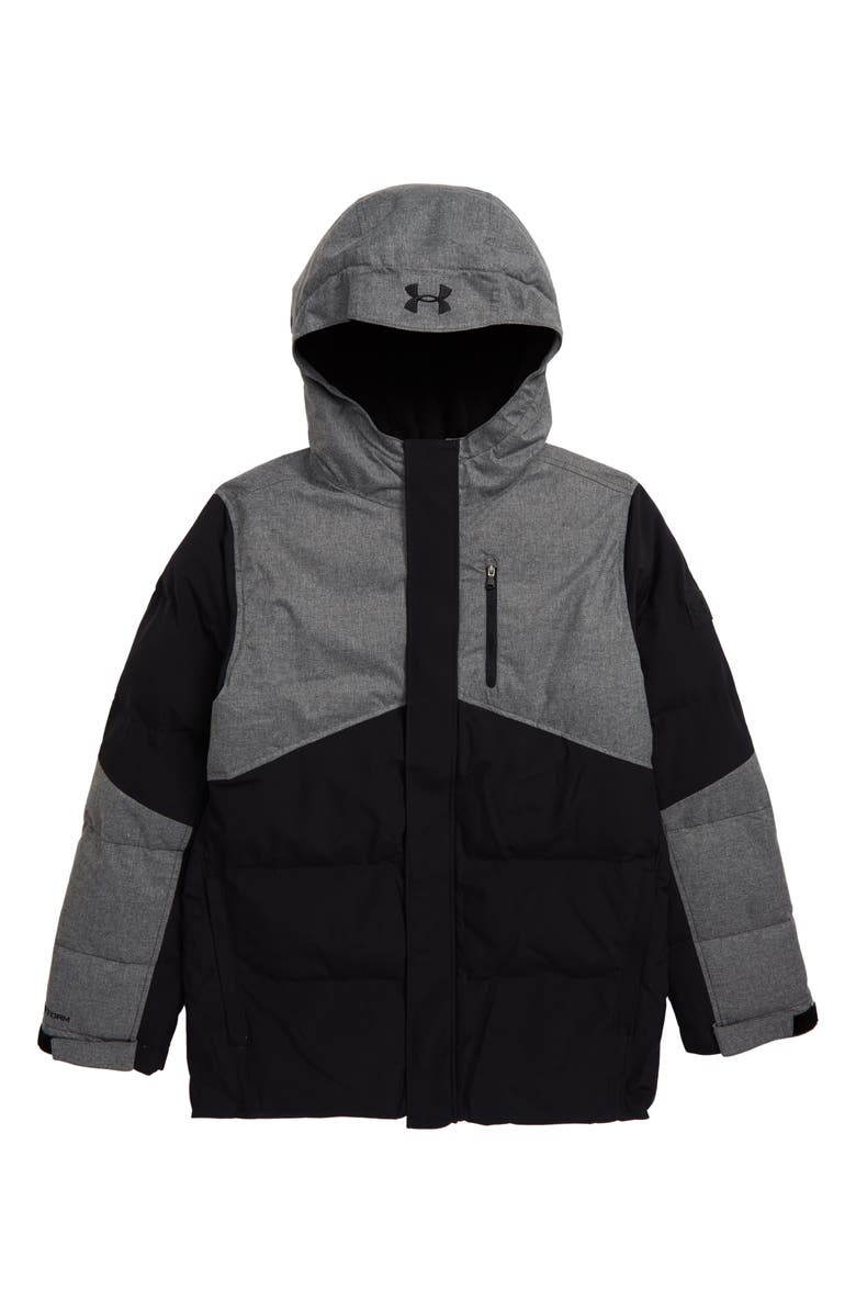 UNDER ARMOUR Superthaw Insulated Waterproof Hooded Jacket, Main, color, 001