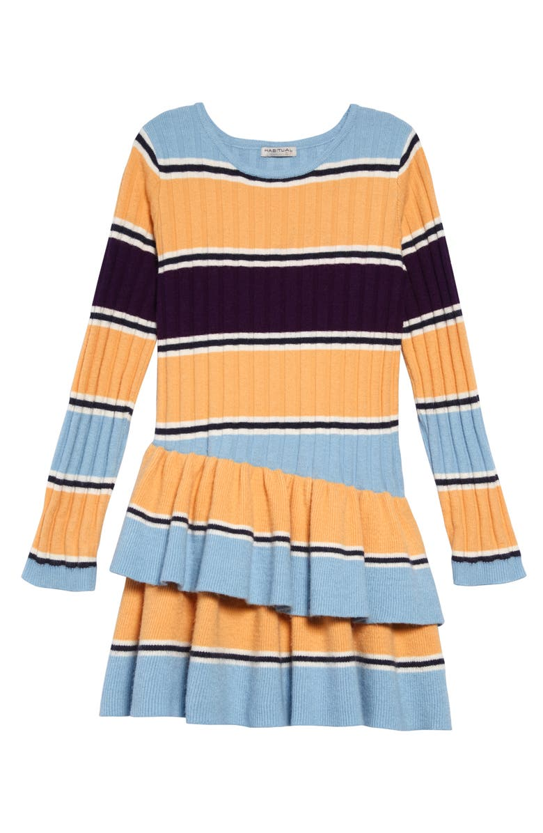 HABITUAL Maisie Stripe Rib Sweater Dress, Main, color, 400