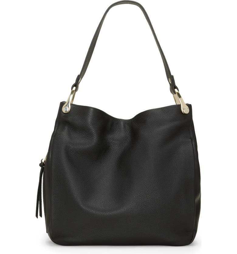 VINCE CAMUTO Clem Leather Hobo Bag, Main, color, 001