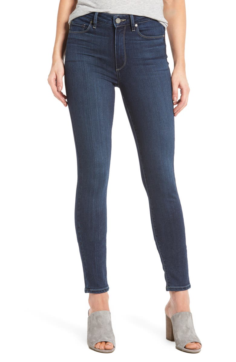 PAIGE Transcend Hoxton High Waist Ankle Skinny Jeans, Main, color, 400
