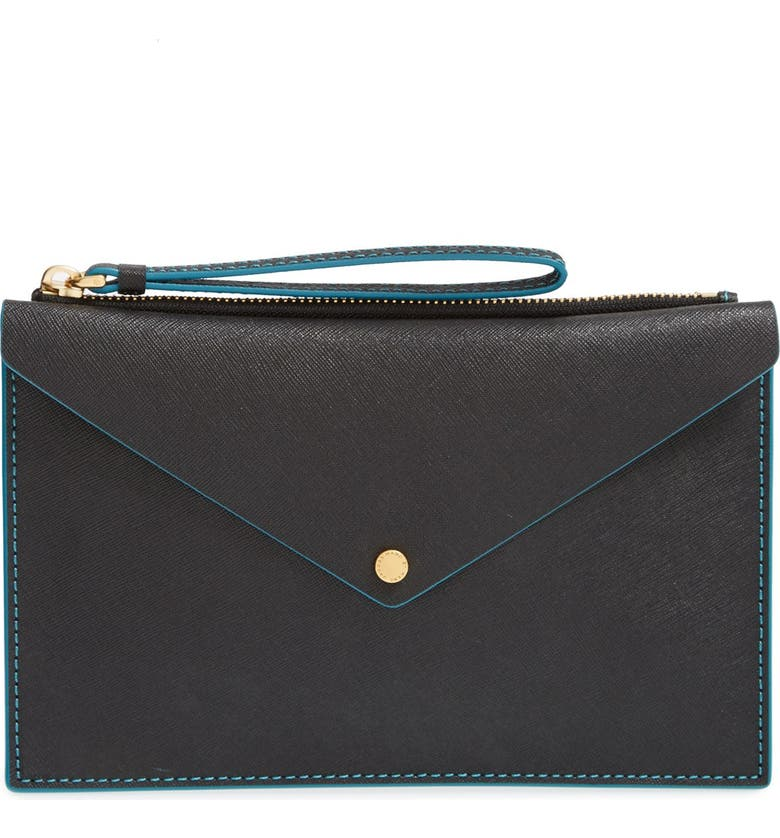 MARC JACOBS MARC BY MARC JACOBS 'Metropoli - Large' Leather Envelope Pouch, Main, color, 001