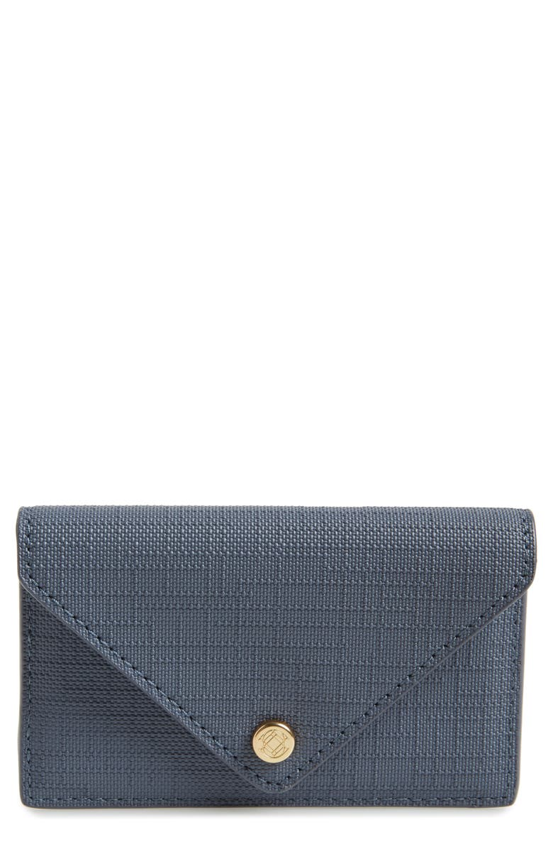 DAGNE DOVER Coated Canvas Card Case, Main, color, ASH BLUE