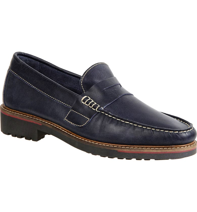 SANDRO MOSCOLONI Roland Penny Loafer, Main, color, NAVY