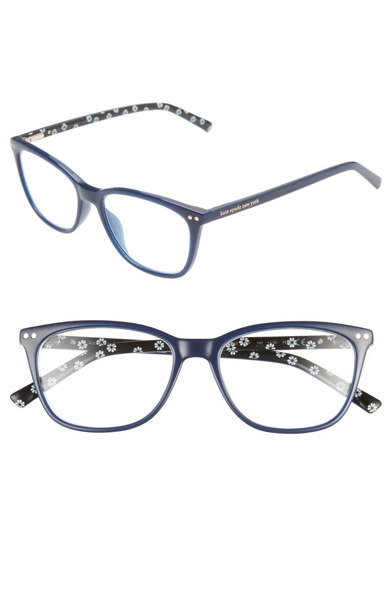 KATE SPADE NEW YORK tinlee 52mm reading glasses, Main, color, BLUE