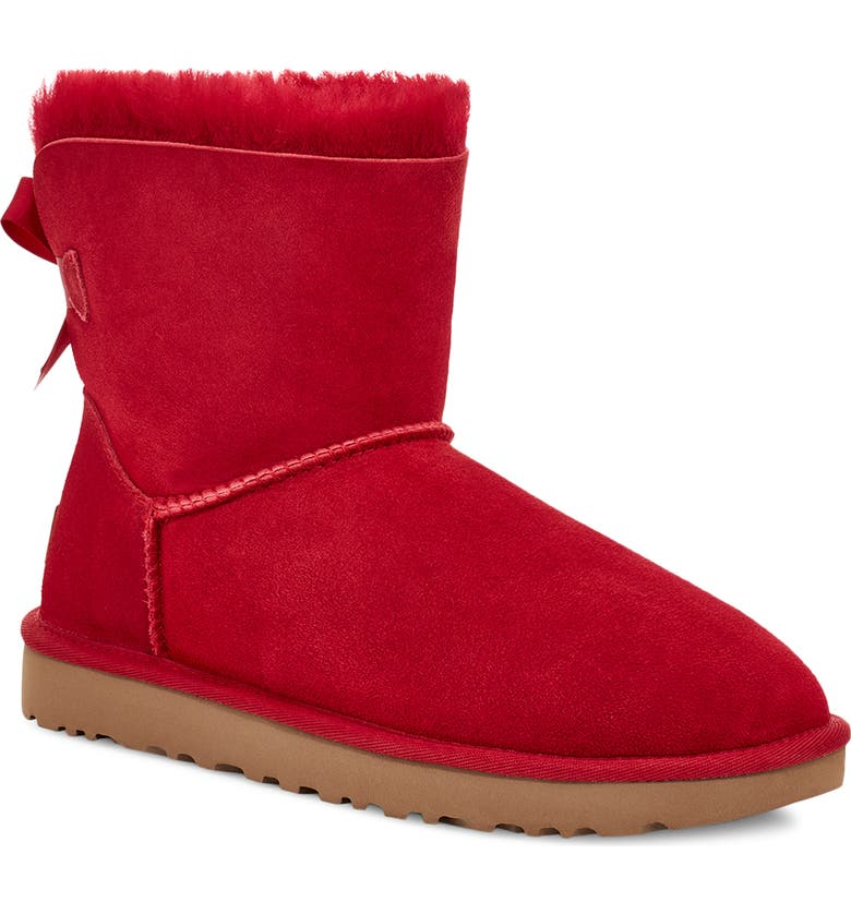 UGG<SUP>®</SUP> Mini Bailey Bow II Genuine Shearling Bootie, Main, color, 601