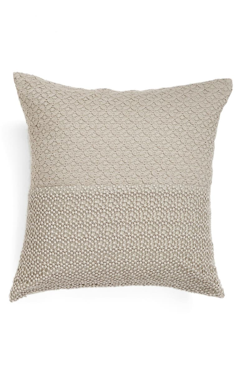 NORDSTROM at Home 'Maya' Lace Trim Pillow, Main, color, 021