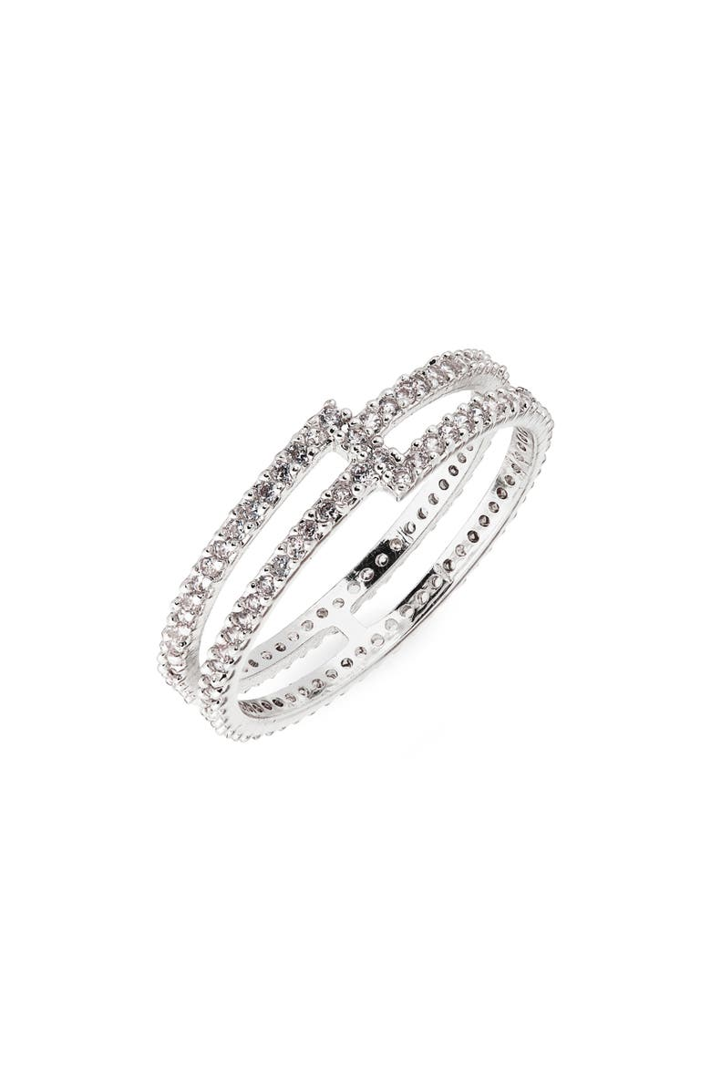 NORDSTROM Split Ring, Main, color, CLEAR- SILVER
