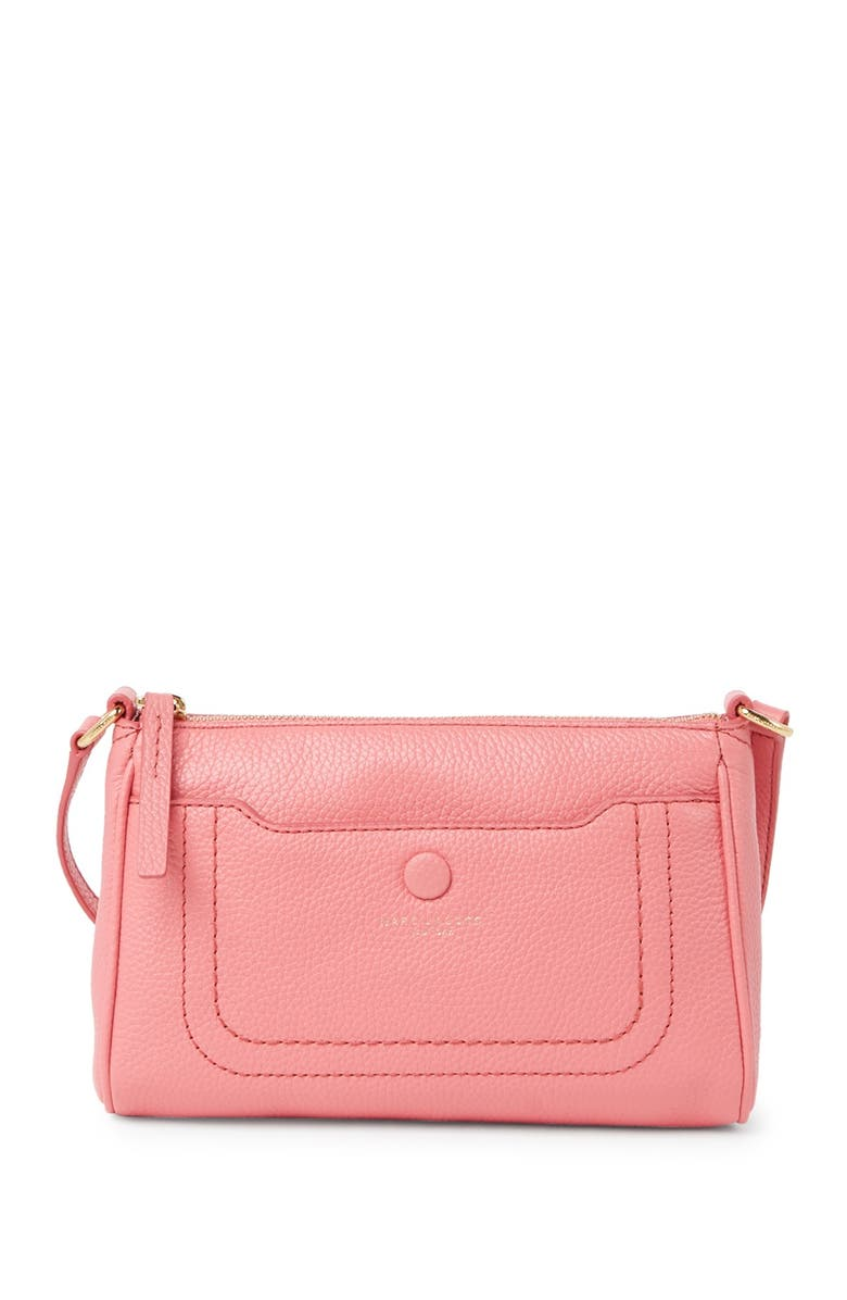 MARC JACOBS Empire City Leather Crossbody Bag, Main, color, CUPID PINK