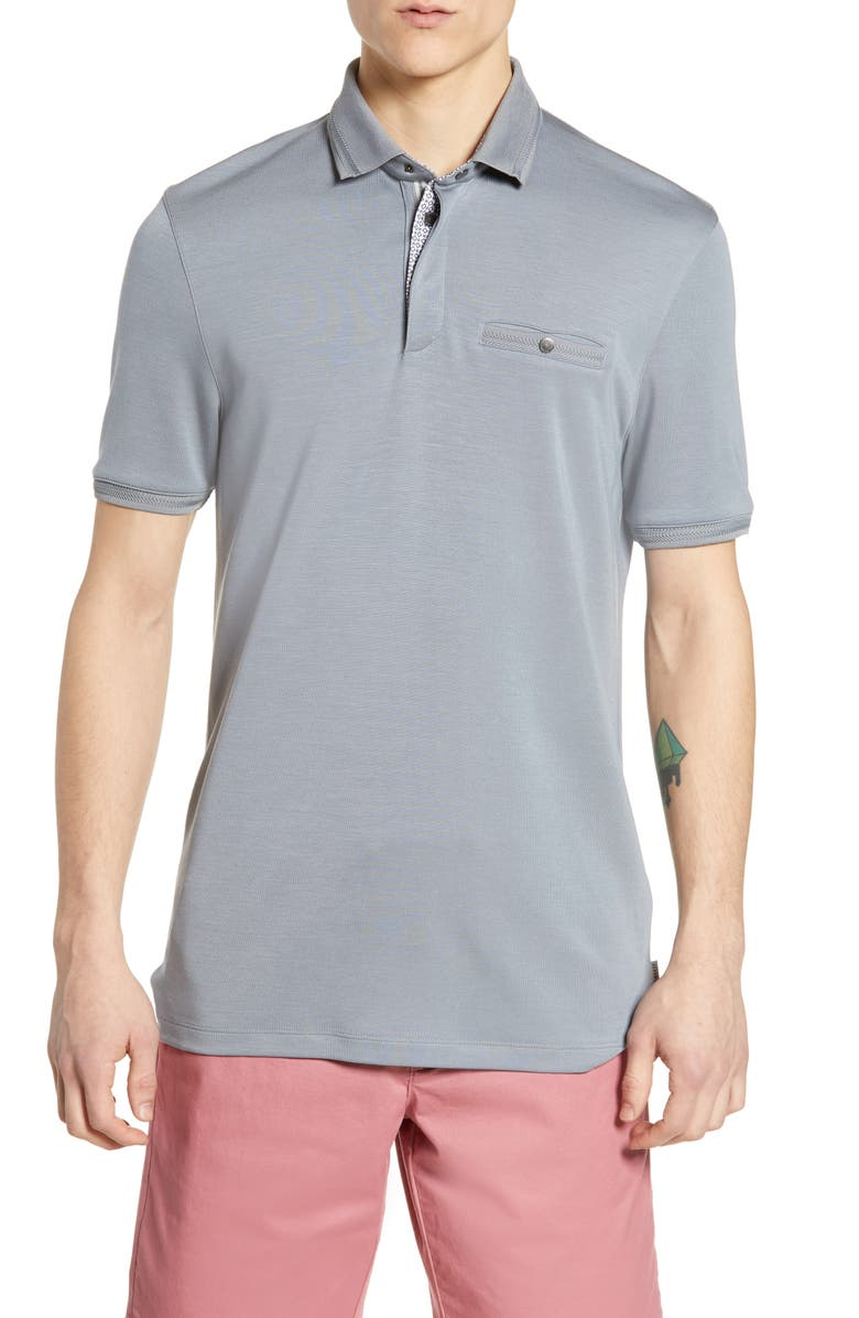 TED BAKER LONDON Plaza Slim Fit Polo, Main, color, 030