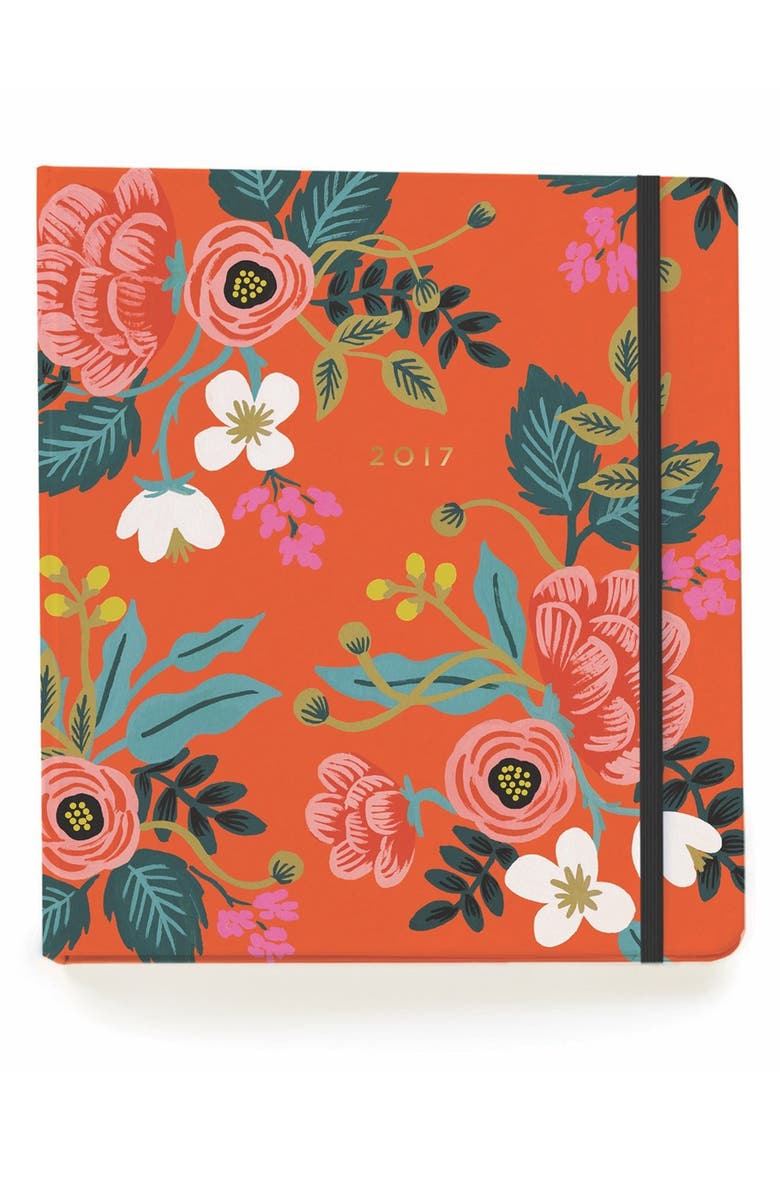 RIFLE PAPER CO. '2017 Scarlett Birch' Planner, Main, color, 600