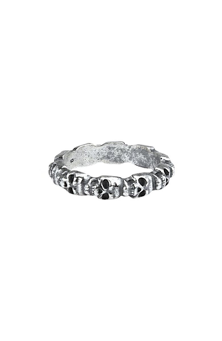 DEGS & SAL Mini Skull Ring, Main, color, Silver