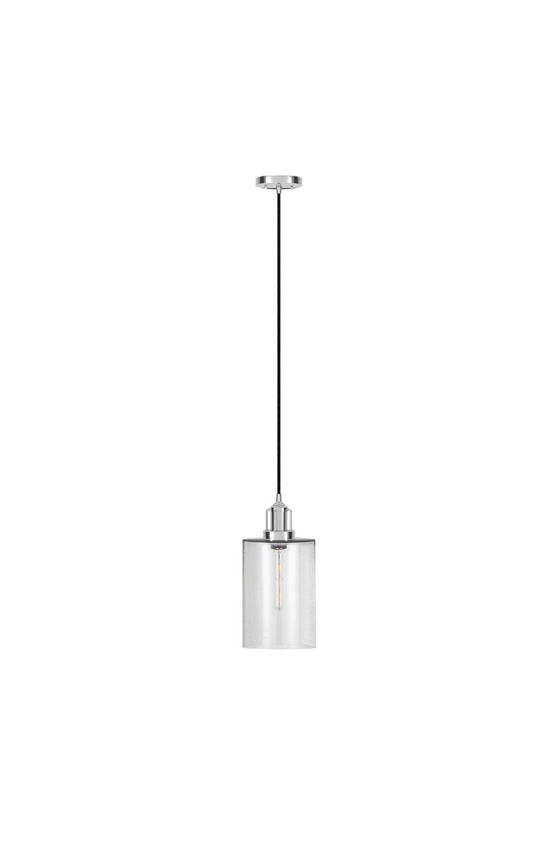 ADDISON AND LANE Nora Pendant in Seeded Glass & Polished Nickel, Main, color, SILVER