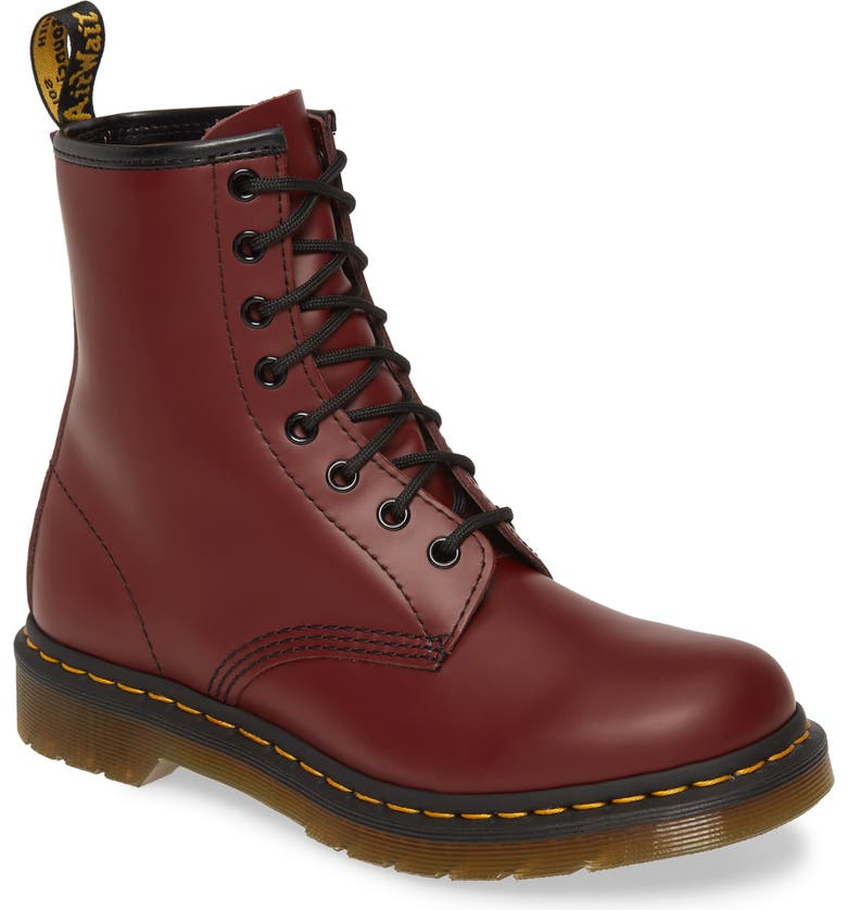 DR. MARTENS '1460 W' Boot, Main, color, CHERRY