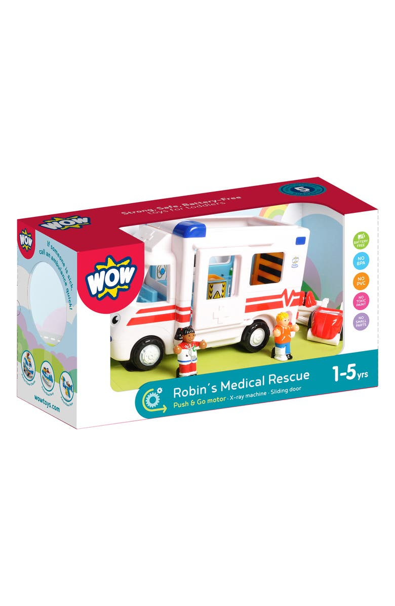 WOW TOYS Robin's Medical Rescue Toy Set, Main, color, WHITE