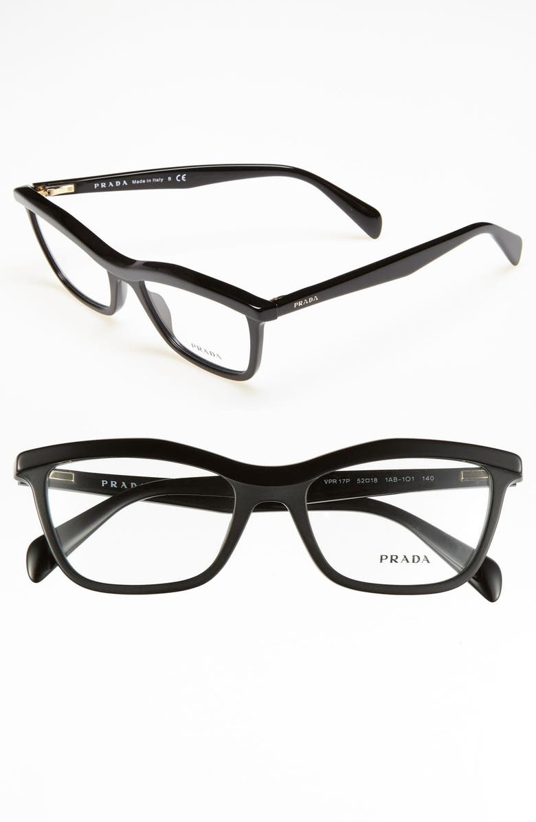 PRADA 52mm Optical Glasses, Main, color, 001