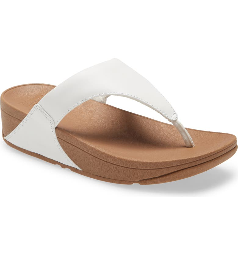 FITFLOP Lulu Flip Flop, Main, color, WHITE FABRIC