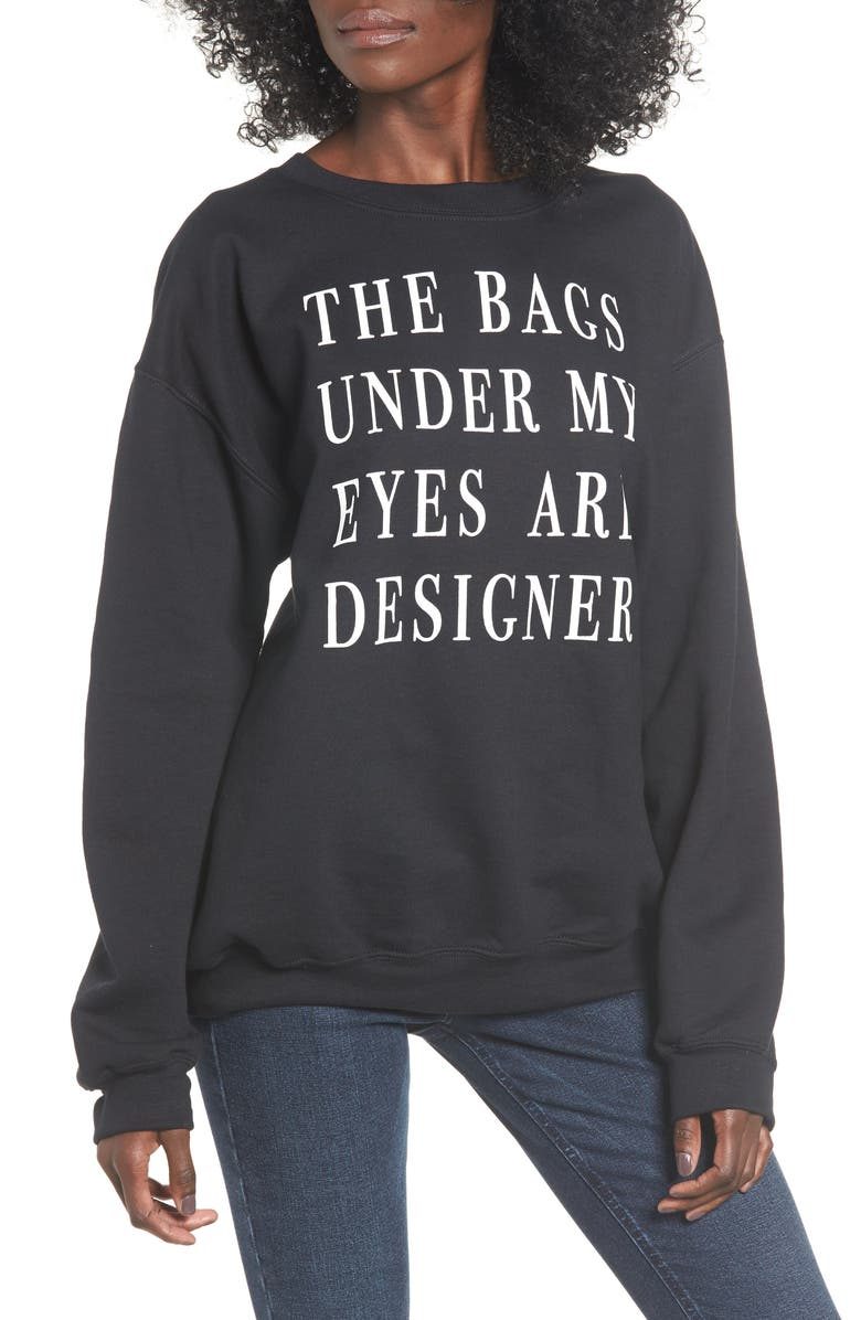 TEN SIXTY SHERMAN Bags Under My Eyes Sweatshirt, Main, color, 001