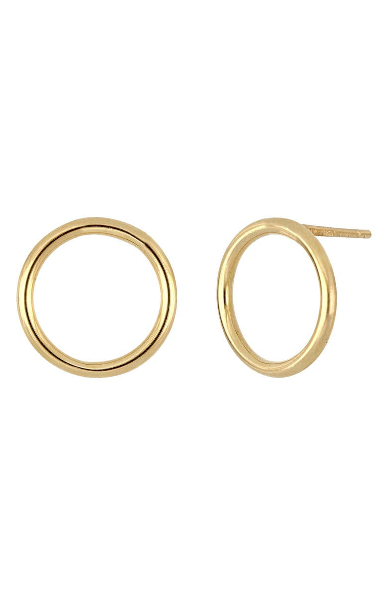 BONY LEVY 14K Gold Open Circle Stud Earrings, Main, color, YELLOW GOLD