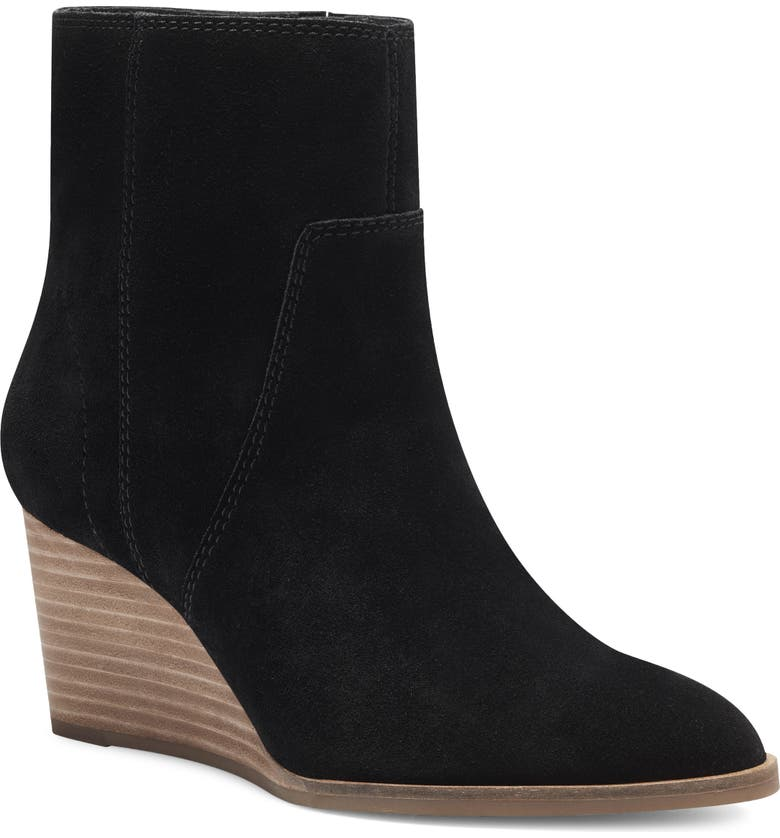 LUCKY BRAND Wafael Wedge Boot, Main, color, BLACK SUEDE