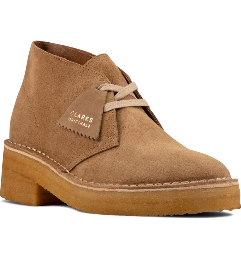 CLARKS<SUP>®</SUP> Arisa Chukka Boot, Main, color, DARK SAND SUEDE