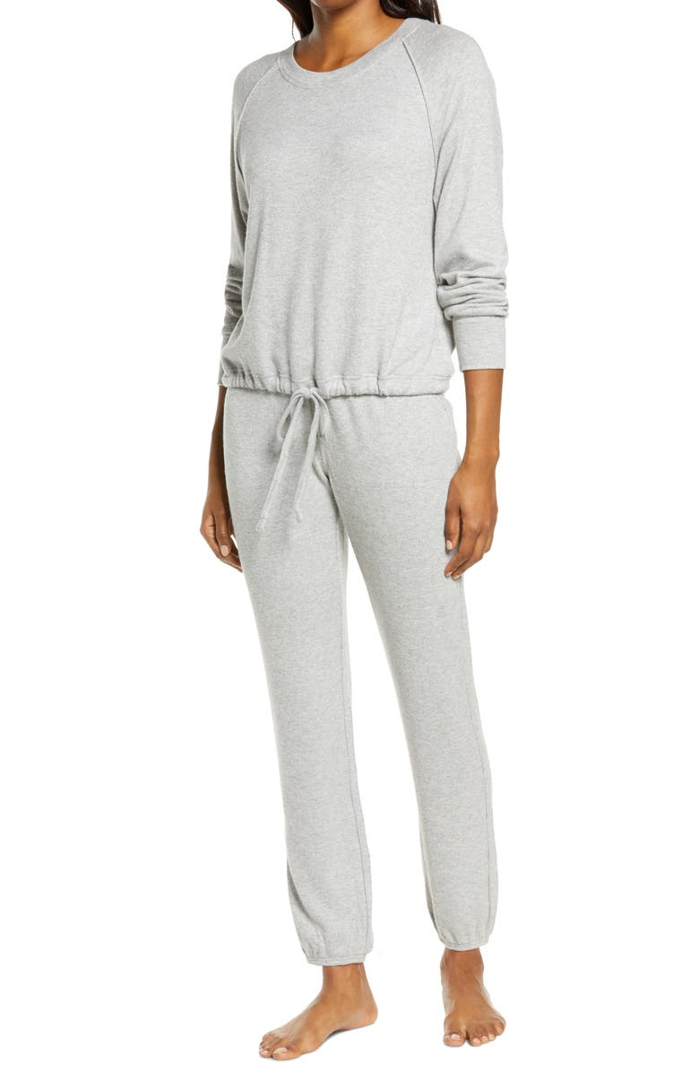 UGG<SUP>®</SUP> Gable Brushed Drawstring Pullover & Joggers Lounge Set, Main, color, GREY HEATHER