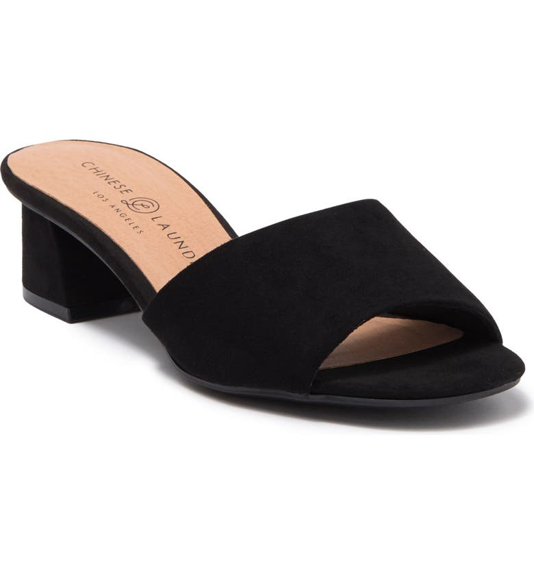 CHINESE LAUNDRY My Girl Sueded Block Heel Sandal, Main, color, BLACK
