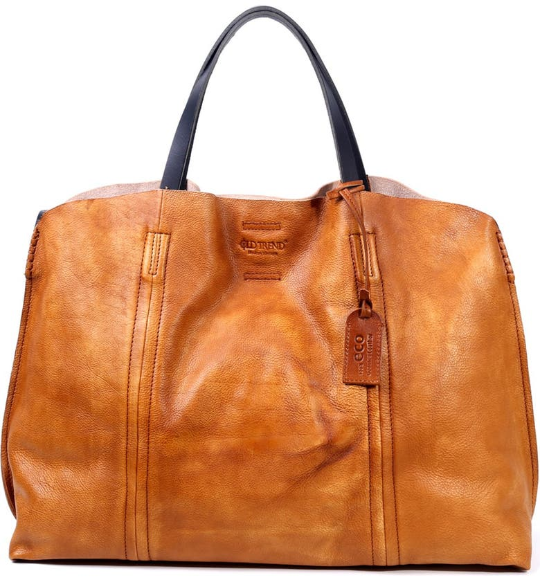 OLD TREND Forest Island Leather Tote Bag, Main, color, CHESTNUT