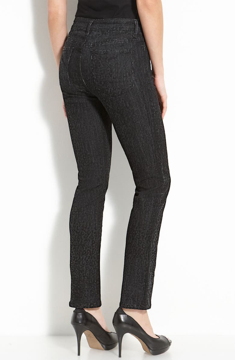 NYDJ Not Your Daughter's Jeans<sup>®</sup> 'Sheri' Cheetah Print Skinny Stretch Jeans, Main, color, GREY MULTI